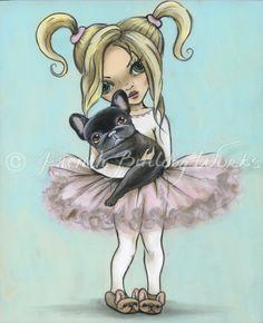 French Bulldog Bouledogue Francais Art Print by frenchbulldogworks