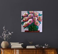 Gorgeous floral painting available. Big blooms painting. Floral art, flower painting, floral abstract. Large blooms painting. Creative Art, Painted Furniture, Abstract Art, Etsy Seller, Bloom, Trending Outfits, Big, Handmade Gifts, Flowers