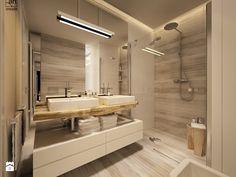 łazienka w ciepłych odcieniach Łazienka - zdjęcie od art inside - studio projektowania wnętrz i ogrodów