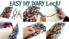 Such an easy way to make a diary lock! You can find these materials basically anywhere