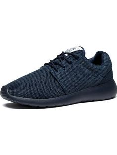 Changping Mens Air Permeability Lace-up Mesh Upper Stylish Simplicity Lightweight Walking Running Shoes(Allblue EU41) ❤ ...