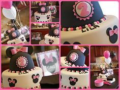 Pink & black Minnie mouse party ideas plus i have tons of Minnie Mouse birthday outfits in my store at www.poshbabystore.com