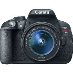 Canon Eos Rebel T5i Camera With 18-135Mm Is Stm Lens Kit ($1,000) ❤ liked on Polyvore featuring black