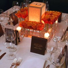 DIY Photo Lantern Center Pieces... love the short arrangements and the lanterns would give the glow that i want