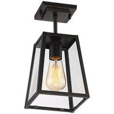 "Arrington 6"" Wide Mystic Black Outdoor Ceiling Light"