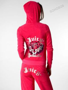 Juicy couture pink sweat suit! When I feel sexy as can be :]