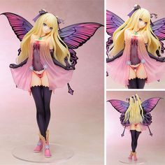Online Shop Anime figures Tony's Heroine Butterfly Fairy Garden Annabel Scale PVC Action figure collection Model Toys for gift 3d Figures, Action Figures, Butterfly Fairy, Anime Butterfly, Chibi, Rocky Horror Picture Show, Anime Figurines, Anime Toys, Anime Merchandise