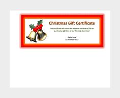 Christmas Certificates Templates For Word Mesmerizing 44 Free Printable Gift Certificate Templates For Word & Pdf .