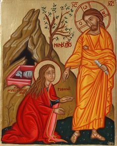 Christ Appearing to Mary Magdalene at the Resurrection by Eri Fragiadaki