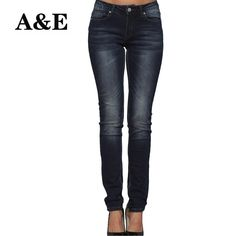 89f4c25a Alice & Elmer Skinny Women Jeans Shortened Woman Jeans For Girls Stretch  Mid Waist Jeans Female Pants