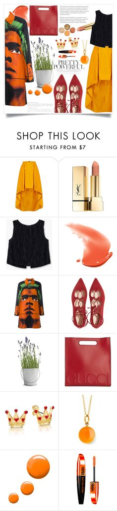 """""""505"""" by meli111 on Polyvore featuring moda, MANGO, Moschino, Potting Shed Creations, Gucci, Syna, Topshop y L'Oréal Paris"""