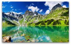 Breathtaking Landscape Lake Mountains wallpaper