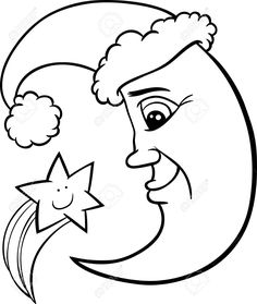 watering can clipart black and white. moon with stars dangling names watering can clipart black and white
