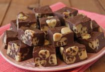Cookie Dough Fudge... Seriously? I think I have found my new favorite :) I will probably use my own recipe for fudge.. but this is an awesome idea!