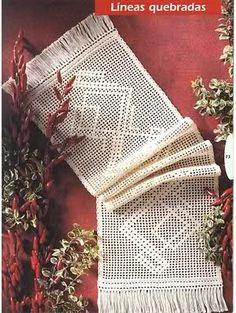Varios patrones para realizar UN MANTEL a crochet