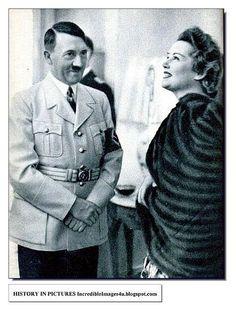 A Happy Adolph Hitler and Eva Braun