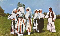 Croatian traditional clothing #Croatia #Poscards