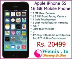 Apple iPhone 5S 16 GB Mobile Phone Rs 20499