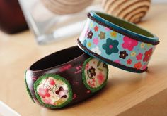 Make Mod Podge bangle bracelets - add Dimensional Magic!