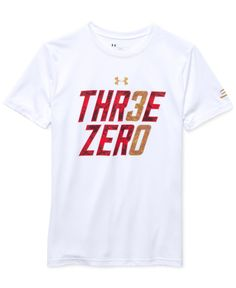 9f19e7807408 Under Armour keeps him dry and comfortable in this ultra-soft and  moisture-wicking T-Shirt designed to up performance and his style.