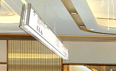 LUDING Mall Signage and Wayfinding on Behance Office Signage, Retail Signage, Environmental Graphics, Environmental Design, Signage Design, Branding Design, Banner Design, Shopping Mall Interior, Glass Signage