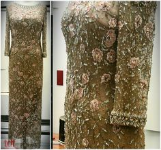 Words cannot properly describe this glimmering nude outfit! There is a flesh colored slip that covers the body, and then you wear the mesh dress that is covered in beading and flower shapes! It's truly a sight to behold that this photo could never do proper justice. #TDFCC #KeepingUpWithTheCostumes #1970s