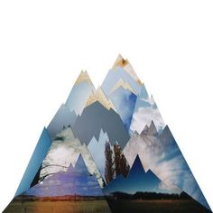 cut-out paper mountain