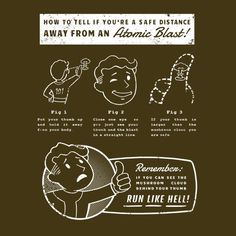 Fallout | Atomic Blast Safety Instructions