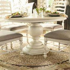 Paula Deen Home Round Pedestal Table in Linen | Nebraska Furniture Mart