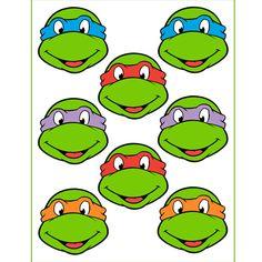 Instant Download Turtles for Balloon Stickers Lollipop por Inulja