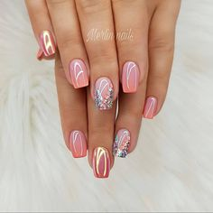 100 Trendy Stunning Manicure Ideas For Short Acrylic Nails Design - Nails Art Ideas - Nageldesign Crazy Nail Designs, Toe Nail Designs, Acrylic Nail Designs, Nails Design, Acrylic Nails, Square Nail Designs, Acrylic Art, Spring Nails, Summer Nails
