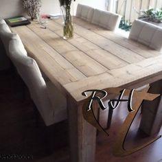 Robuuste Steigerhouten tafel Young