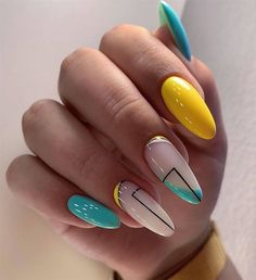 Diy Acrylic Nails, Acrylic Nail Shapes, Gel Nails, Chic Nails, Stylish Nails, Trendy Nails, Minimalist Nails, Stiletto Nails Glitter, Bright Nail Art