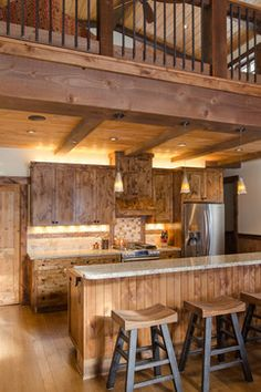 Rustic Kitchen Design Ideas, Pictures, Remodel and Decor-the cabinets!  <3