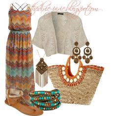 Boho chic. Summer outfits. Maxi dress.