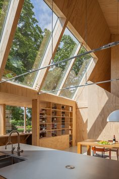 Peter Tijhuis - New Ideas Barn House Design, Wooden House Design, Timber Architecture, Architecture Design, Bungalows, Glass House, Interior And Exterior, Interior Design, Prefab