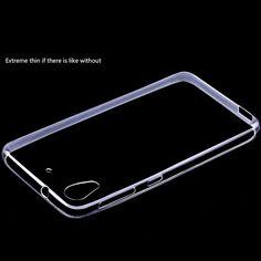 Ultra İnce Şeffaf şeffaf TPU Kılıf Htc Desire tek 626 Kristal Arka Kapak Silikon Jel Cep Telefonu Çanta için HTC