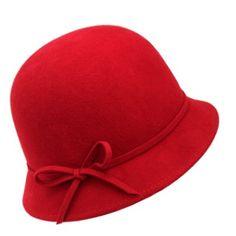 CLOCHE HAT RED