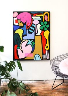 Ashley Mary Is Bright and Bold | Minnesota Monthly Arte Pop, Abstract Painters, Abstract Canvas, Modern Abstract Art, Bright Abstract Art, Bright Art, Picasso Paintings, Pop Art Paintings, Bright Paintings