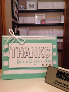 Sale-a-Bration Stampin' Up! Thanks for being you!  available for March only!