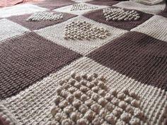 uncinetto tunisino, assemblaggio delle strisce, bordatura