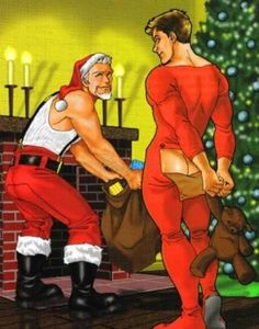 claus fuck Santa cartoons gay