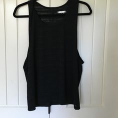 Black burnout stripe muscle tank Great condition Forever 21 Tops Tank Tops