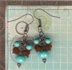 50 Off Clearance SaleTurquoise and Burnt Orange by myjuliejewels, $4.98
