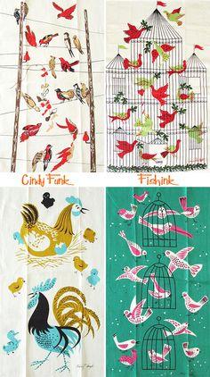 Tea Towels on Fishink blog.
