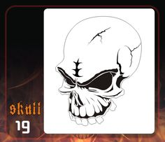 CAS Professional Airbrush Stencil - Skull 19 - 'Toothy'