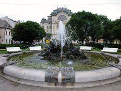 Park with a Fountain with Zodiac signs, Košice, Slovakia