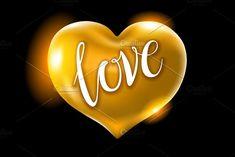 Big golden heart vector by Rommeo79 on @creativemarket