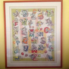 This is the biggest crossstitch I've ever made. It took me 8 months to finish it and I was pregnant with my oldest daughter Christina  29.1.2016 #10yearsago #crossstitch #elephants #alphabets #beforeidiscoverthejoyofcrochet #colorful by lemondedesucrette