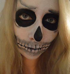 Skeleton makeup 3 #skeleton #skull #makeup #facepaint #skeltonmakeup #alevel #artstudent Skeleton Makeup, Art Photography, Halloween Face Makeup, Skull, Make Up, Fine Art Photography, Makeup, Beauty Makeup, Artistic Photography